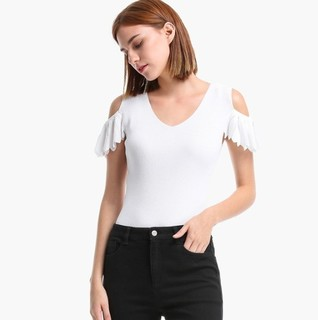ochirly 欧时力 1GY2032110 女士针织T恤