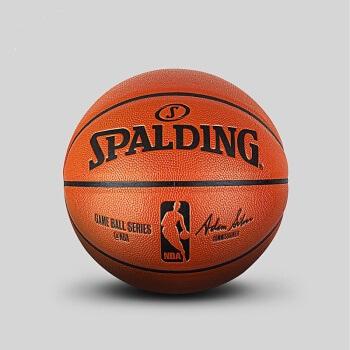 SPALDING 斯伯丁 NBA职业比赛用球PU  篮球7号球  7号球(标准球)   74-570Y_1 (橘红色、7号)