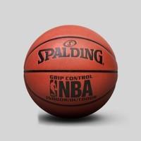 SPALDING 斯伯丁 NBA掌控比赛用球室内室外PU篮球7号球   七号球(标准)    74-604y (橘红色、7号)