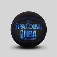 SPALDING 斯伯丁 Highlight蓝色闪光星形表皮PU篮球   七号(标准球)   76-019Y (蓝色、7号)