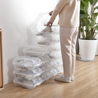 京东PLUS会员 : BELO 百露 塑料透明鞋盒 10个 *3件