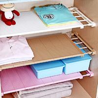 衣柜收纳分层隔板柜子免钉置物架橱柜浴室分隔层架宿舍伸缩整理架 *7件