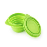 BeBe 乐可折叠碗硅胶碗儿童碗 绿色