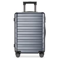 小米90分拉杆箱24英寸 七道杠旅行箱男女士登机箱万向轮静音商务行李箱 钛金灰 24英寸