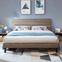 林氏木业 DV1A 板式双人床+床头柜*2 1.5米