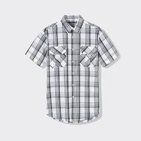 限尺码 : Markless CS1125M4 男士格子短袖衬衫