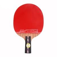 DHS 红双喜 乒乓球拍狂飚直拍双面反胶乒乓板No.5瑰木底板蓝海绵  No.5