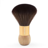 SMITH CHU 褚铁匠 刷子家庭理发剃发 金色铝管配原木柄扫发刷(长嘴夹2个)