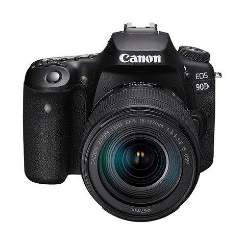 Canon 佳能 EOS 90D APS-C画幅 数码单反相机 黑色 EF-S 18-135mm F3.5 IS USM 变焦镜头 单镜头套机