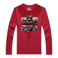 LONSDALE 114309197 男士T恤 (咖啡红、XL)