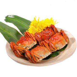 姑苏渔歌 大闸蟹礼券3288型 公蟹4.5两/只 母蟹3.5两/只 4对8只螃蟹 海鲜水产