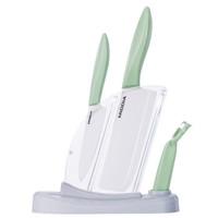 MIDDIA 美帝亚 WFC501 宝宝辅食刀具 陶瓷刀套装5件套 (5件套、海螺绿)