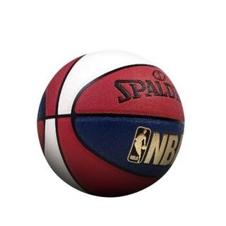 SPALDING 斯伯丁 红白蓝三色 室内外 7号PU篮球 74-655Y SBD0056A (红白蓝、7号、74-655Y)
