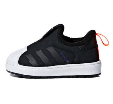 adidas 阿迪达斯 三叶草 Supersta r经典童鞋 冬季加绒款 B22472