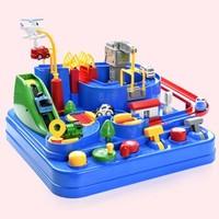 儿童玩具轨道车宝宝汽车闯关大冒险 2小车
