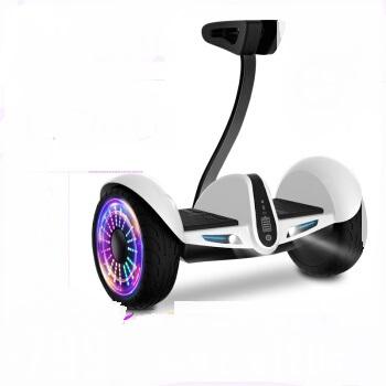 Maikula 麦酷拉 两轮成人儿童伸缩智能APP体感车代步车双轮10吋大轮思维扭扭电动车青春白  平衡车