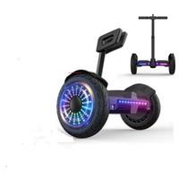 领奥 智能电动自平衡车儿童两轮成人体感成年上班代步越野双轮胎平行车带手扶杆升级36V音乐黑  小旋风