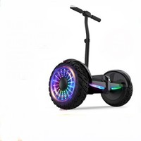 领奥 电动自平衡车两轮成人儿童智能体感成年上班代步越野双轮胎54V黑  领奥小旋风