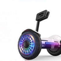 领奥 电动自平衡车两轮成人儿童智能体感成年上班代步越野双轮胎10寸平行车带手扶杆36V白   领奥小旋风