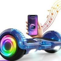 领奥 智能平衡车儿童两轮电动扭扭车越野发光双轮思维体感代步车10寸大轮成人滑板车安全便携手提6.5寸升级音乐版迷粉   6.5扭扭车