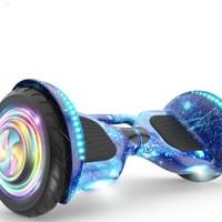 领奥 智能电动平衡车两轮成人10寸越野发光轮儿童代步漂移体感车蓝牙音乐双轮思维车扭扭车10吋升级越野版星空 10吋