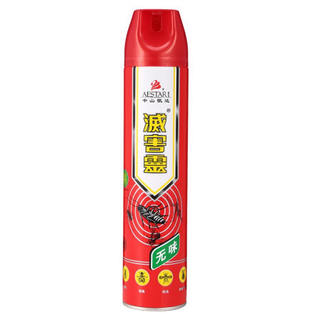 灭害灵 杀虫剂 蚊香气雾剂 无味喷雾 驱虫用品600ml *3件