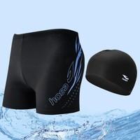 浩沙hosa 泳裤男士宽松舒适高弹沙滩平角5分游泳裤紧身学生泳装成人游泳装备温泉裤大码 蓝色605 XL          114141635 (蓝色、XL、其它、分体)