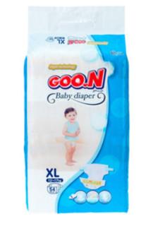 GOO.N 大王 柔软干爽环贴式纸尿裤 XL 54片 泰国版 *6件