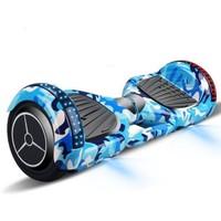 闪跑 平衡车两轮儿童双轮电动自行车体感车代步成人手扶迷彩蓝高配至尊版  kk045
