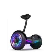 Look hoor 平衡车双轮儿童小学生中学生成人体感两轮智能平衡车带APP带扶杆小孩子男孩女孩平行车代步车10寸发光轮-白色  mini