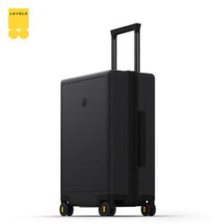 地平线8号()行李箱女旅行箱托运箱24英寸德国拜耳PC箱体拉杆箱男黑色(锤科出品)