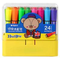 M&G 晨光 小熊哈里系列 易水洗儿童绘画彩笔 24色