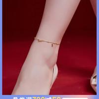 卡蒂罗脚链女银河系列纯银网红韩版简约个性小众设计性感款脚踝链