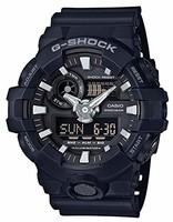 CASIO 卡西歐 G-SHOCK GA-700 男士石英手表 52mm 不銹鋼 黑色原型