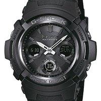 CASIO 卡西欧 G-SHOCK AWG-M100B-1AER 电子刻度盘男士腕表 不锈钢 黑色 圆形