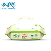 小叮咚婴儿手口安全湿巾80抽*5包带盖新生儿童宝宝专用湿纸巾无香