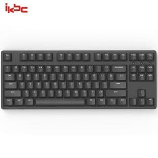 ikbc W200 机械键盘 2.4G无线 游戏键盘 87键 原厂cherry轴 樱桃轴 吃鸡神器 无线机械键盘 黑色 青轴