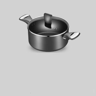 Lagostina 拉歌蒂尼 蓝钻30cm炒锅三件套 锅具套装锅不粘炒 30cm 黑色
