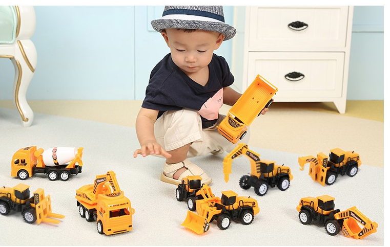 LIVING STONES 活石 玩具工程车套装 九只工程队
