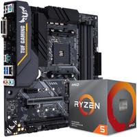 ASUS 华硕 TUF B450M-PRO GAMING(AMD B450/AM4)+锐龙5 3600X 板U套装