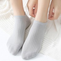 佳泽 ZN82002 女士纯棉短袜仙袜 5双装