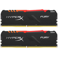 Kingston 金士顿 HyperX Fury RGB 骇客神条 DDR4 3200 台式机内存 16G(8G×2)