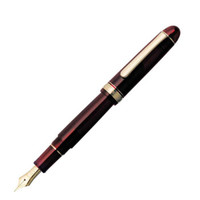 PLATINUM 白金 PNB-10000 钢笔Century世纪3776 14K 酒红色 B+吸墨器 单支装