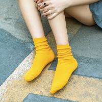 永将 女士中筒袜/堆堆袜 6双装