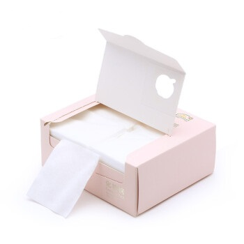 Purcotton 全棉时代 洗脸巾化妆棉卸妆棉 一次性擦脸巾洁面巾盒装化妆棉片平纹6*7cm 360片/盒 1盒 800-000585-02