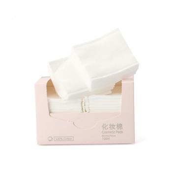 Purcotton 全棉时代 802-001606 化妆棉片盒装4层叠加卸妆棉 6*7cm 100片/盒*2