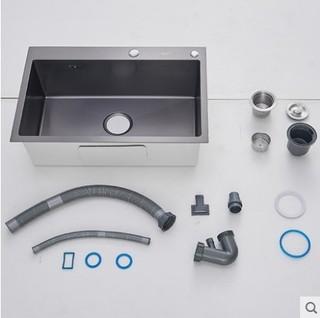 KEGOO 科固 K10032 304不锈钢水槽单槽 68*45cm