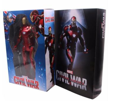 ZT 中动玩具 复仇者联盟4钢铁侠模型 14寸发光钢铁侠