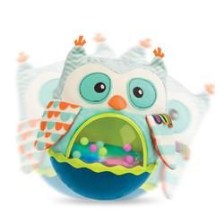 B.Toys 比乐 声光音乐猫头鹰不倒翁摇铃+小鸟弹跳球 +凑单品