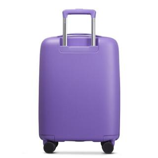Echolac 防刮万向轮行李箱 (紫色、20英寸)